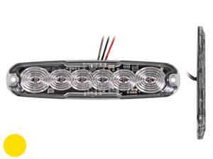 Bilde av 6 LED flat strobemodul 12V